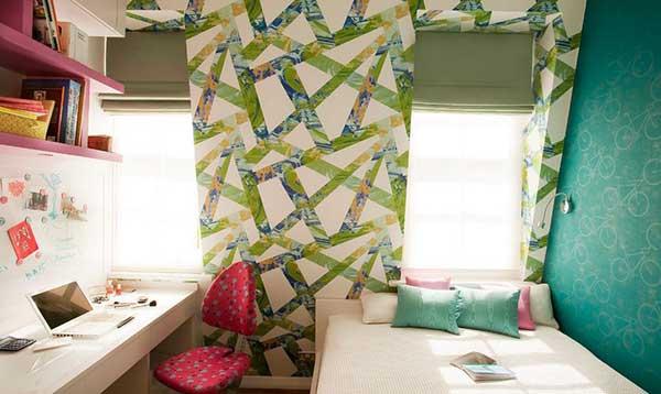 genç odası renk seçimi - turkuaz pembe