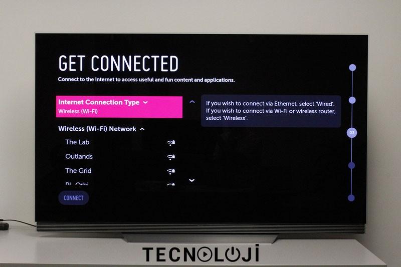 lg tv internet ayarları
