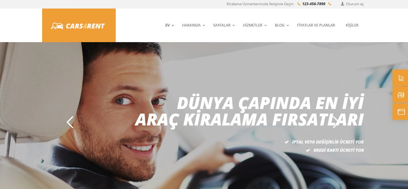wordpress araç kiralama temaları - Cars4Rent
